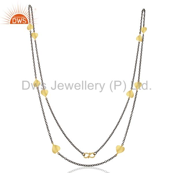 Suppliers Indian Gold Plated Womens Brass Fashion Chain Necklace Supplier
