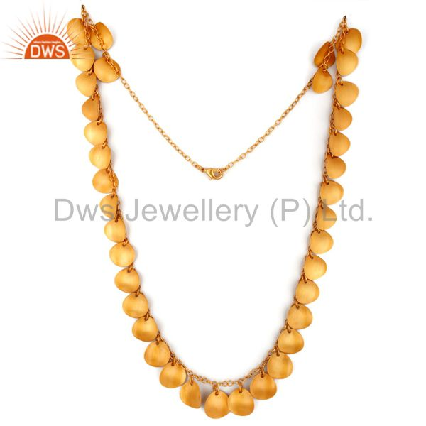 Suppliers Gorgeous Handmade 24k Gold Plated Plated White Zircon Belly Dance Necklace 24