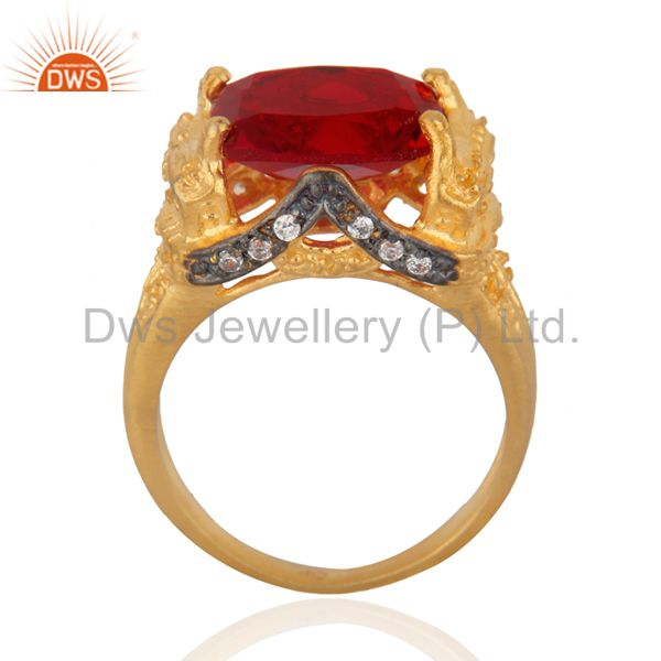 Suppliers Vintage Red Ruby Women Fake Diamond Ring Occasion Special Gift Ring Sz 6 Jewelry