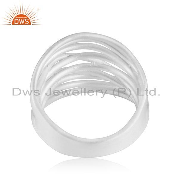 Suppliers Fine Silver Plated Handmade Brass Fashion Cocktail Ring Manufacturer From India