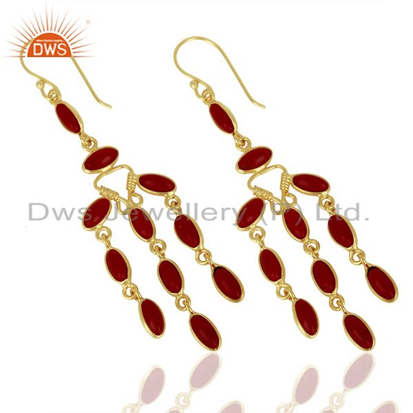 Red Hydro Long Fashion Spring Season Jewelry From Jaipur India
