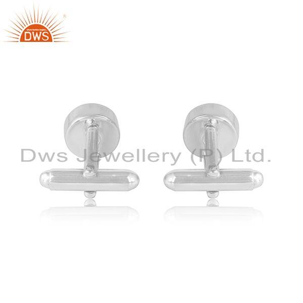 Designer of Elegant sterling silver cufflinks adorn with pearls