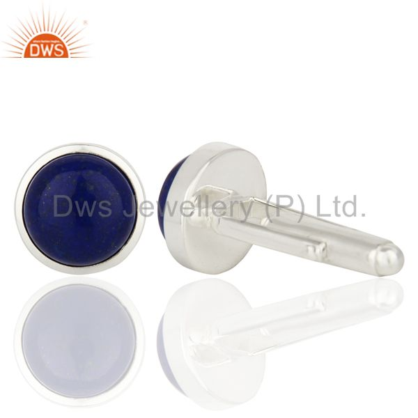 Suppliers Lapis Sterling Silver Cufflinks Mens Jewelry