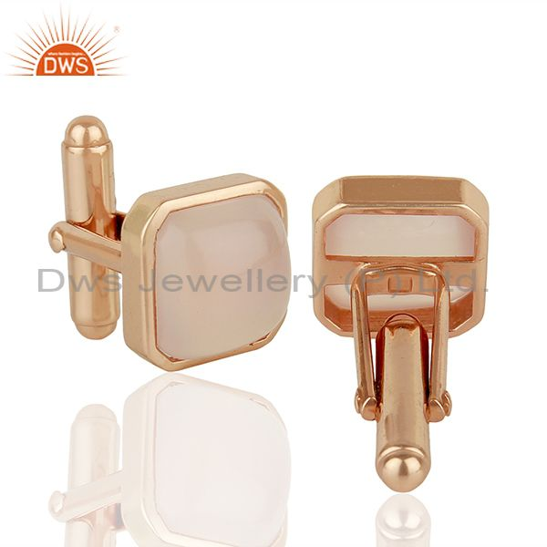 Suppliers Rose Gold Plated Sterling Silver Mens Cufflink Jewelry Manufacturer