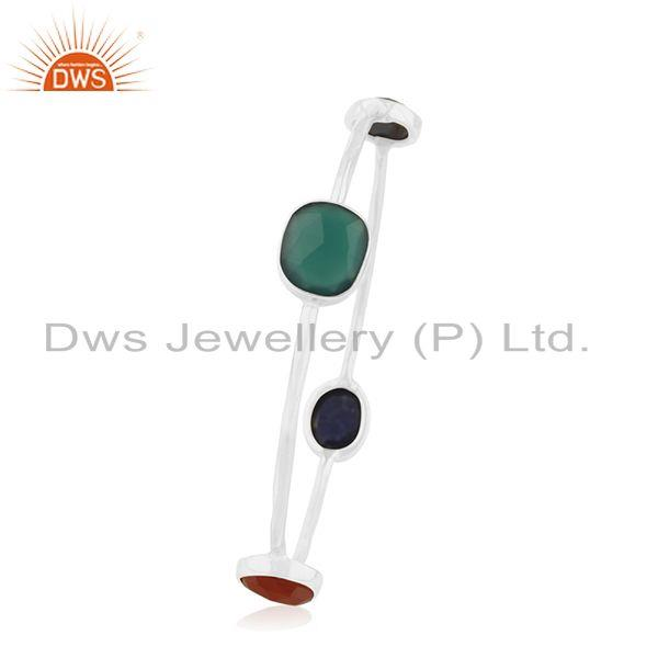 Wholesalers of 925 sterling silver designer gemstone bangle jewelry