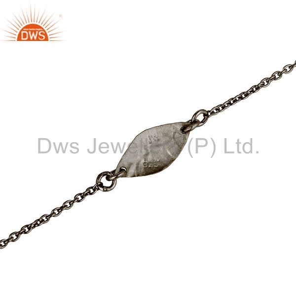 Suppliers Luxury Black Oxidized 925 Sterling Silver Fashion Jewellery Chain Bracelet