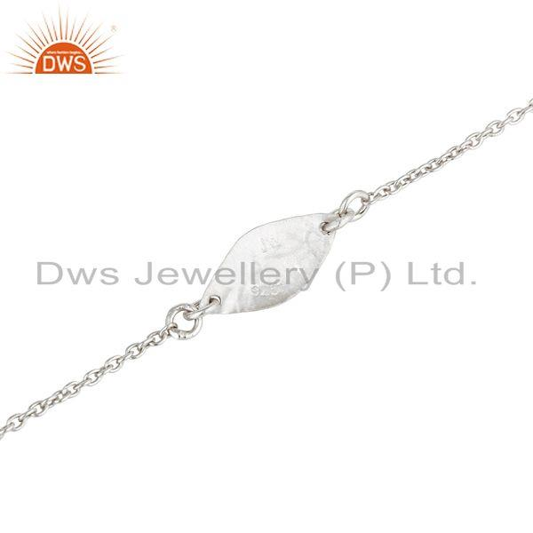 Suppliers Handmade Luxury Solid 925 Sterling Silver Fashion Jewellery Chain Bracelet