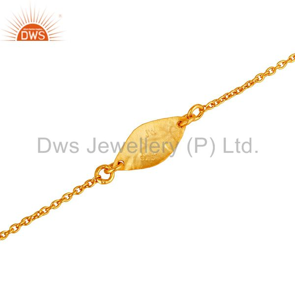 Suppliers Luxury 18k Gold Plated 925 Sterling Silver Fashion Jewellery Chain Bracelet