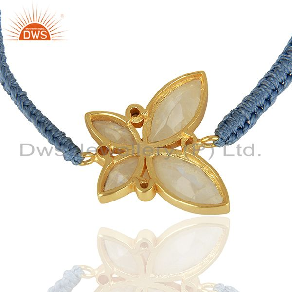 Suppliers CZ Rainbow Moonstone Gold Plated Fashion Bracelet Jewelry Supplier