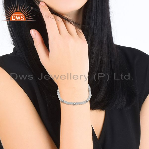 Suppliers Fine Sterling Silver Round Crystal Ball Bracelet Manufacturers