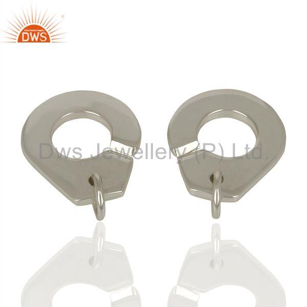 Suppliers Handmade Sterling Fine Plain Silver Connector Jewelry Manufacturer