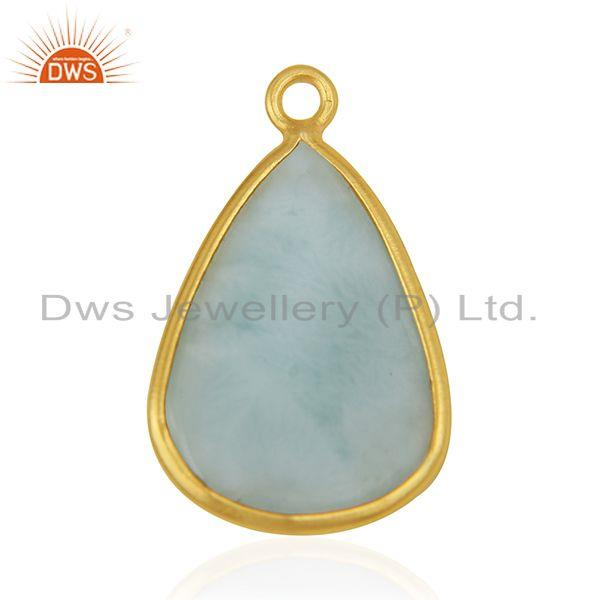 Suppliers Larimar Gemstone 925 Silver Private Label Connectors Manufacturer India