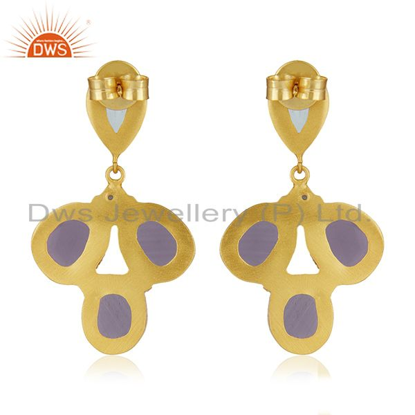 Suppliers CZ and Hydro Stone Gold Plated Fashion Earrings Jewelry Manufacturer