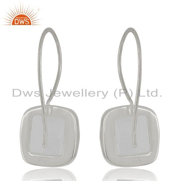 Suppliers Crystal Quartz Sterling SIlver Simple Drop Earrings Wholesale