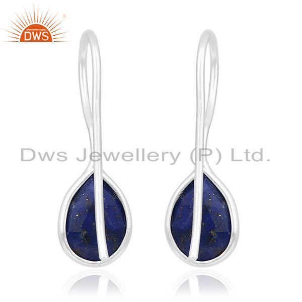 Suppliers Lapis Lazuli Gemstone 925 Sterling Fine Silver Private Label Earring Wholesale