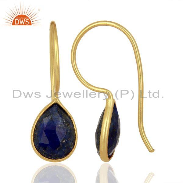 Lapis Lazuli 14K Yellow Gold Plated 925 Sterling Silver Earrings
