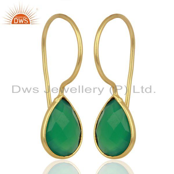 Earrings Gemstone Jewelry Gold Plated From Jaipur India