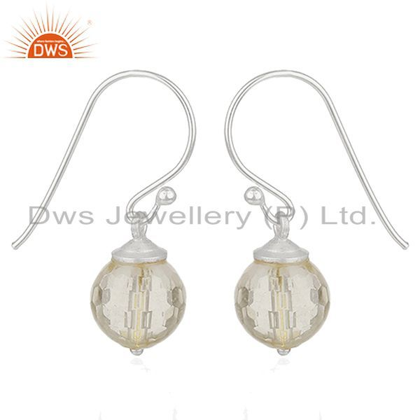 Suppliers Crystal Quartz 92.5 Sterling Silver Gemstone Drop Earrings Jewelry Manufacturer