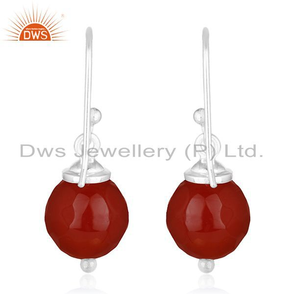 Suppliers 92.5 Handmade Sterling Silver Red Onyx Gemstone Earrings Manufacturer of Jewelry