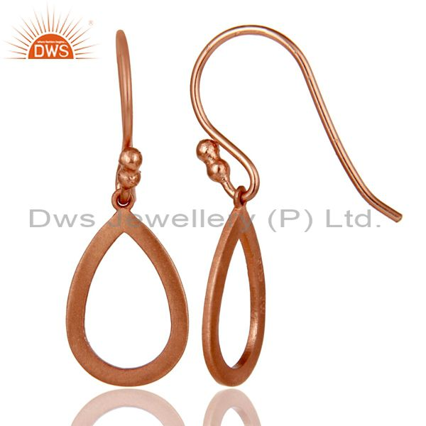 Suppliers 18k Rose Gold Plated Sterling Silver Drop Designer Earrings