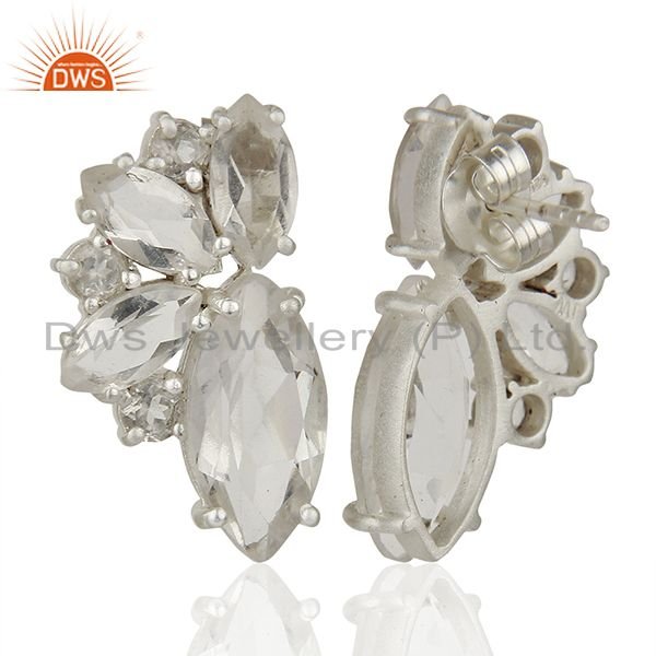 Suppliers 925 Fine Silver Multi Gemstone Women Stud Earrings Manufacturers