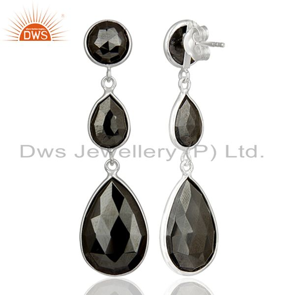Suppliers Black Hametite Gemstone Fine Sterling Silver Dangle Earrings Suppliers