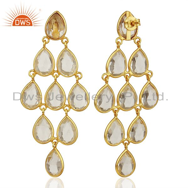 Suppliers Crystal 925 Silver Earrings Customized Gemstone Jewelry Manufacturer