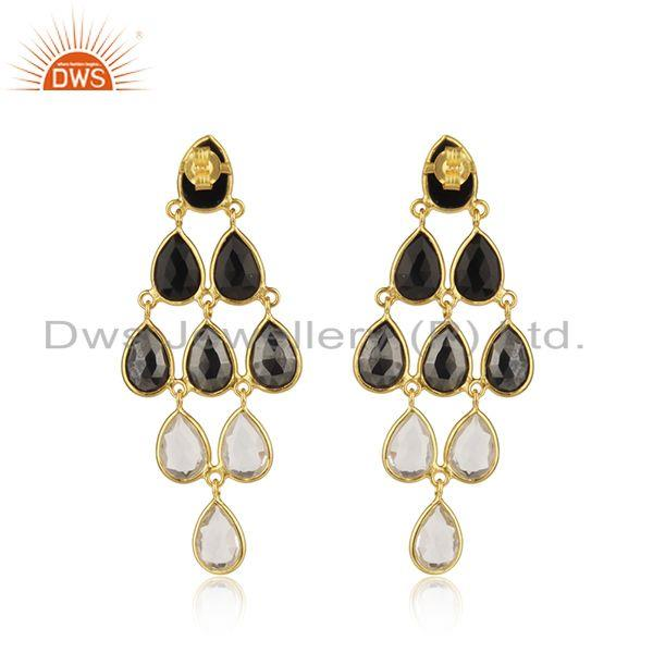 Suppliers Designer Gold Plated Sterling Silver Multi Gemstone Earrings Supplier