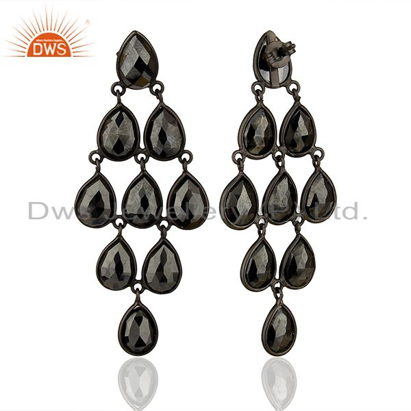 Suppliers Black Rhodium Plated 925 Silver Customized Earrings Manufacturers