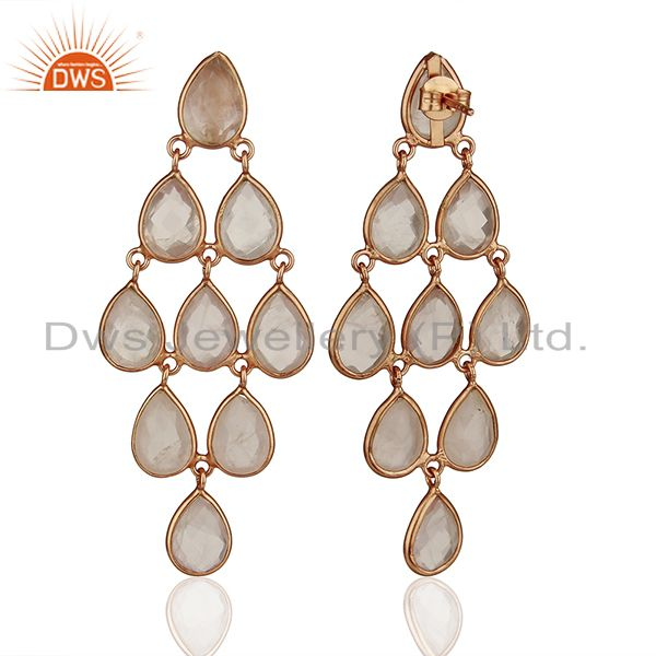 Suppliers Rose Gold Plated Handmade 925 Silver Gemstone Earrings Manufacturers