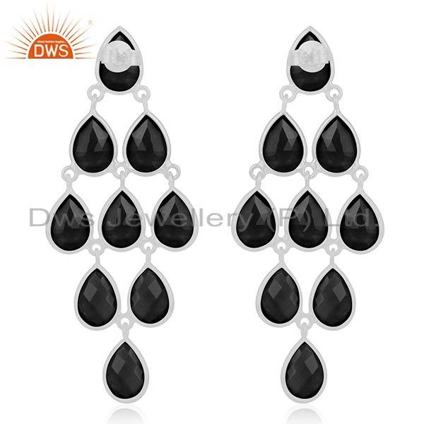 Suppliers Fine Sterling Silver Black Onyx Gemstone Earring Manufacturer of Jewelry