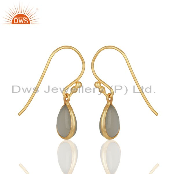 Suppliers Gold Plated Sterling Silver Moonstone Earrings Manufacturers