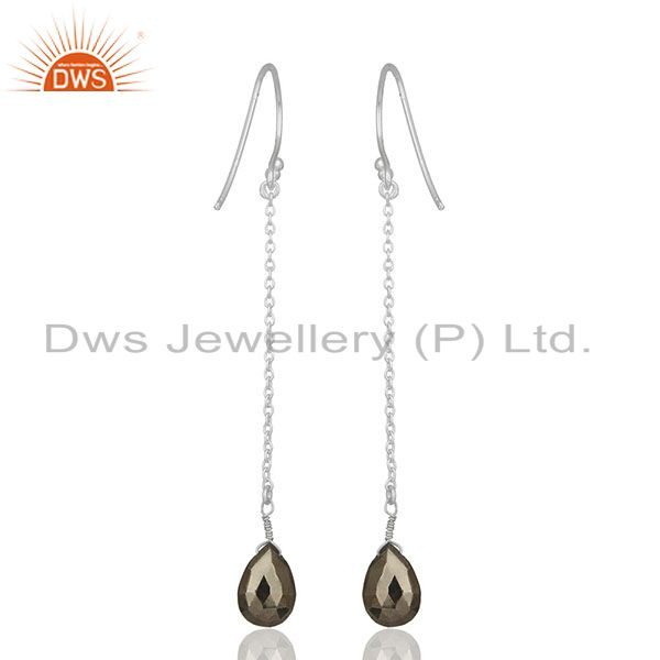 Suppliers Hematite Gemstone 925 Silver Chain Earrings Jewelry Manufacturers