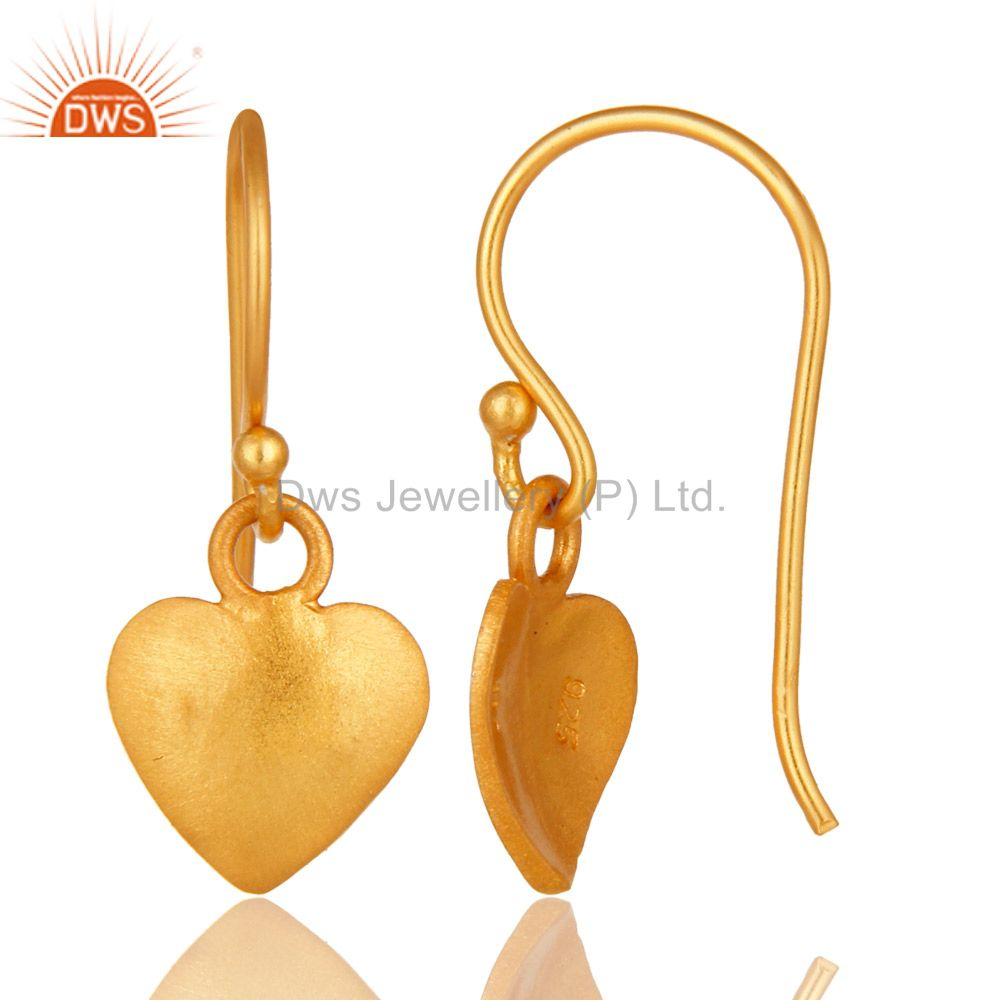 Designers Traditional Handmade Pan Design Earrings with 18k Gold Sterling Silver