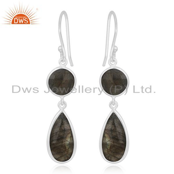 Suppliers Labradorite Gemstone Sterling Silver Earring Manufacturer of Wedding Jewelry