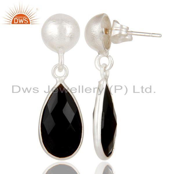 Suppliers Black Onyx Gemstone 925 Silver Dangle Earring Manufacturer of Jewelry