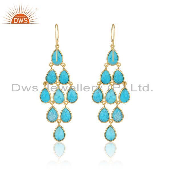 Designer of Designer exquisite turquoise chandelier in gold on silver 925