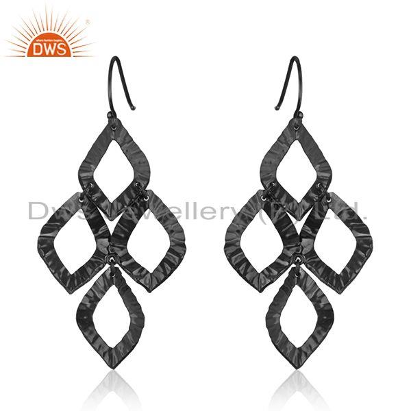Suppliers Black Rhodium Plated Sterling Silver Handmade Earring Manufacturer