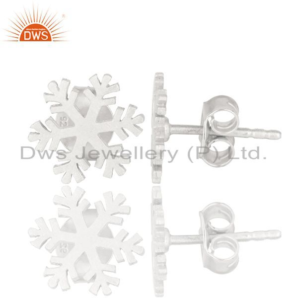 Suppliers Solid 925 Sterling Silver Handmade Beautiful Design Studs Earrings Jewelry
