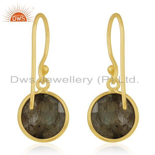 Suppliers Gold Plated 925 Silver Labradorite Gemstone Earring Manufacturer of Jewelry