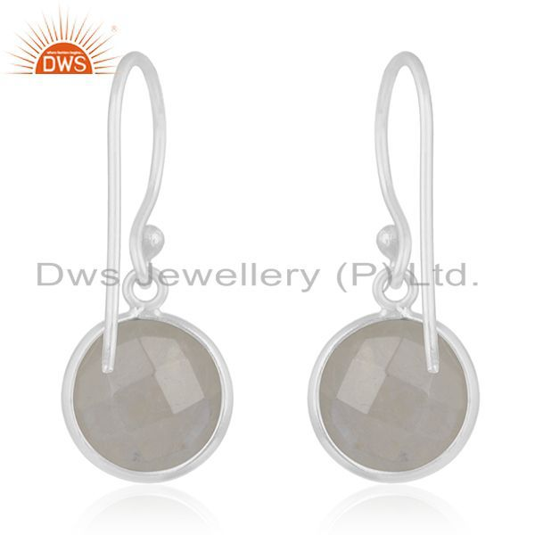Suppliers Rainbow Moonstone 92.5 Sterling Handmade Silver Earring Jewelry Manufacturer