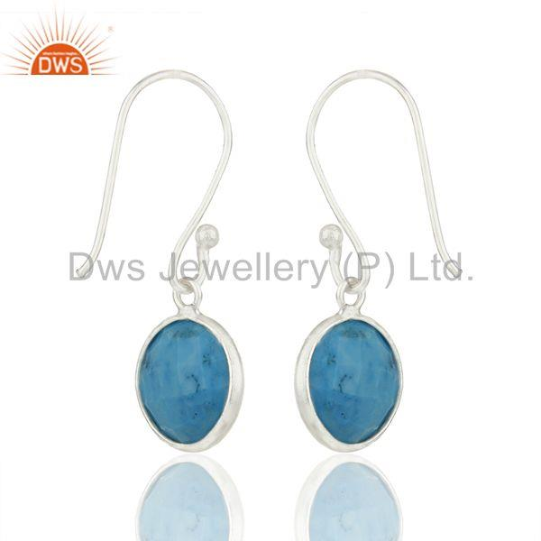 Suppliers Turquoise Gemstone Sterling 92.5 Fine Silver Girls Earrings Suppliers