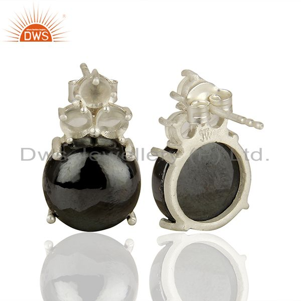 Suppliers Handmade Prong Setting Multi Gemstone Silver Earrings Manufacturers