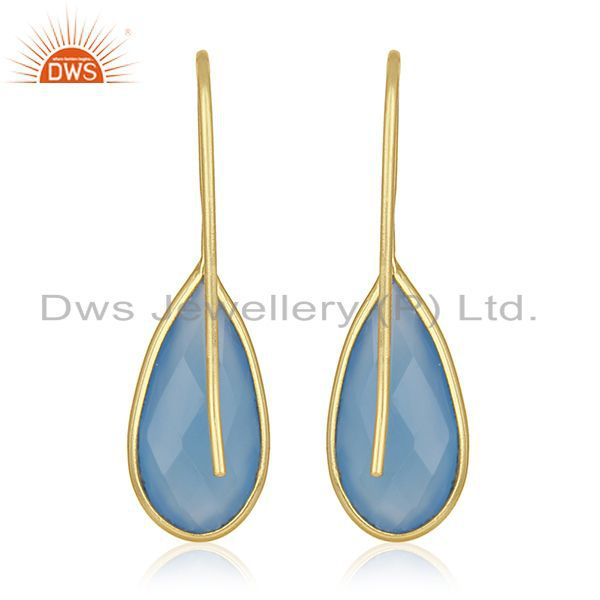 Suppliers Gold Plated Silver Gemstone Earrings Jewelry Manufacturer for Designers India