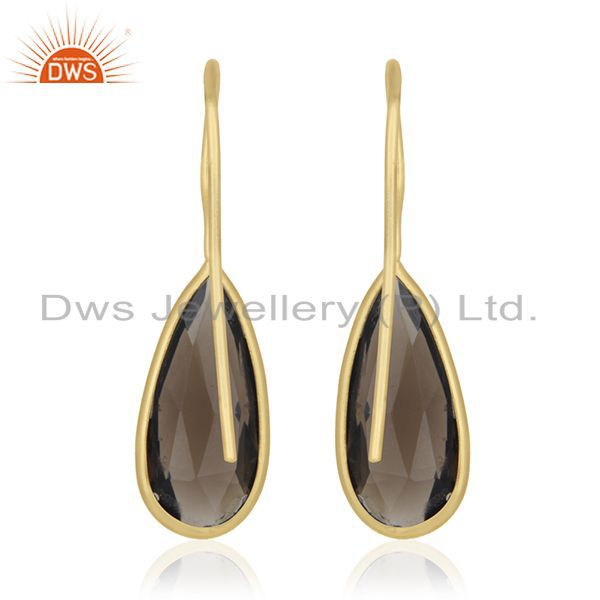 Suppliers Private Label Jewelry Manufacturer for 925 Silver Gold Plated Gemstone Earrings