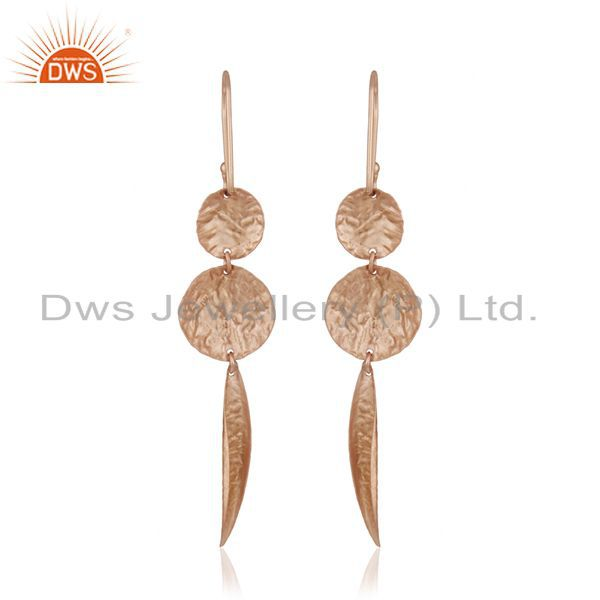 Suppliers Handmade Rose Gold Plated 925 Sterling Silver Designer Earrings Manufacturer