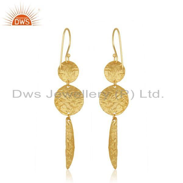 Suppliers Gold Plated Sterling Silver Handmade Earrings Manufacturer of Wedding Jewelry
