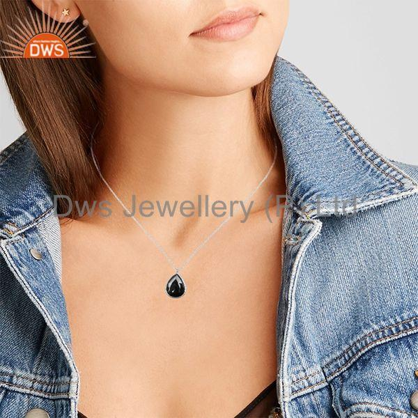 Suppliers Hematite Gemstone 925 Sterling Silver Chain Pendant Manufacturers