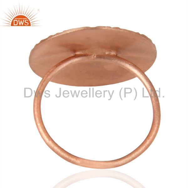 Suppliers Flower Ring Rose Gold Plated Fashion Sleek Stackable Riing