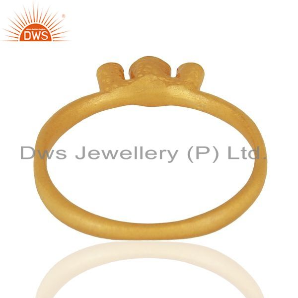 Suppliers 925 Silver Yellow Gold Plated White Zircon Gemstone Ring Jewelry